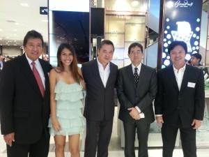 Wopsie Zamora,Big Boy Sy, Mon, Willy Ocier at the SM Aura Grand Openning