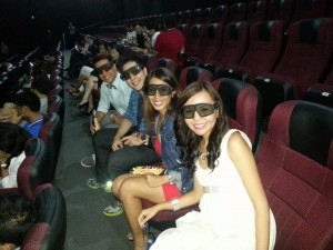 SM IMAX with BFF Joann Frondoso, Gino and Chico