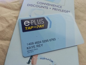 Personalized E-plus Tap to Pay Card