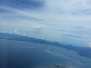little islands as you land Puerto Princesa