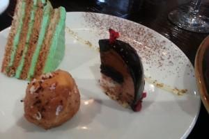 dessert degustation plate