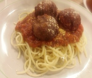 meatballs and red