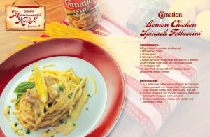 Lemon Chicken Spinach Fettuccini