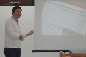 Dr Gar presenting